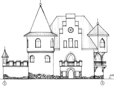 Small castle house plans floor plans for Mini castle house plans